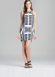 Trina Turk Dress - Kara Sleeveless Ziggurat Print Ponte
