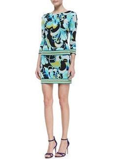 Trina Turk Emmet Printed Jersey 3/4-Sleeve Dress