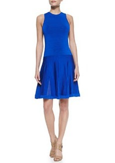 Trina Turk Fairfield Knit Jewel-Neck Dress