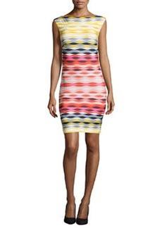 Trina Turk Felana Printed Slim Sheath Dress