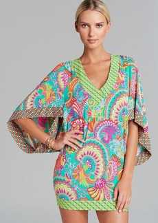 Trina Turk Festival Folkloric Knit Covers Tunic Swim Cover Up