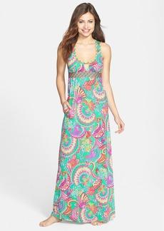 Trina Turk 'Folkloric' Cutout Racerback Maxi Dress