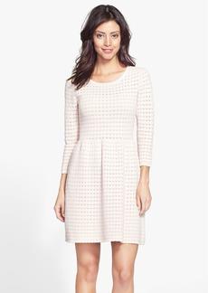 Trina Turk 'Heather' Pointelle Fit & Flare Sweater Dress