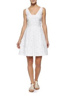 Trina Turk Joanne Sleeveless Lace Pleated Dress
