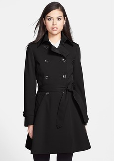 Trina Turk 'Juliette' Double Breasted Skirted Trench Coat (Petite)