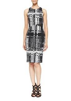 Trina Turk Kathleen Printed Mesh-Side Dress