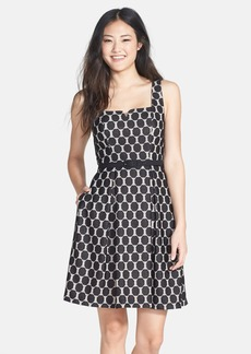 Trina Turk 'Kristen' Belted Fit & Flare Dress