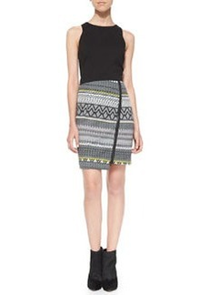 Trina Turk Lilly Deco-Striped Combo Dress
