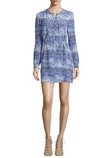 Trina Turk Long-Sleeve Dress with Drawstring Waist