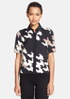 Trina Turk 'Lucie' Houndstooth Print Blouse