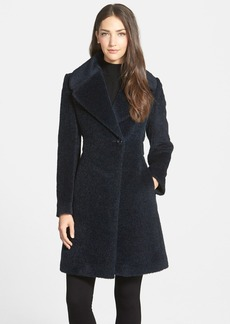 Trina Turk 'Maggie' Notch Collar Alpaca & Wool Blend Coat