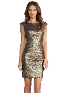 Trina Turk Meadows Dress in Metallic Bronze