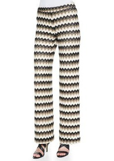 Trina Turk Perleen Zigzag-Design Wide-Leg Pants, Multi