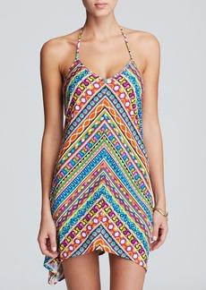 Trina Turk Peruvian Stripe Short Dress Swim Cover Up