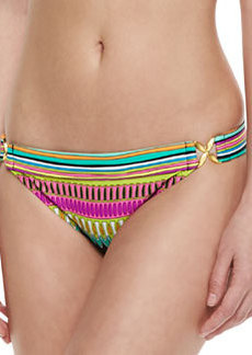 Trina Turk Plumas Side-Buckle Printed Swim Bottom