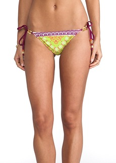 Trina Turk Seychelles String Bikini Bottoms in Orange