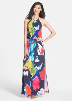 Trina Turk 'Shirley' Floral Print Halter Maxi Dress