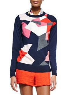 Trina Turk Sumi Graphic Crewneck Sweater