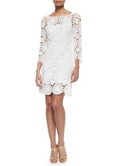 Trina Turk Summertime 3/4-Sleeve Lace Dress