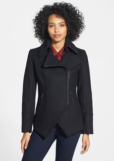 Trina Turk 'The Abbey' Knit Collar Moto Jacket (Petite)