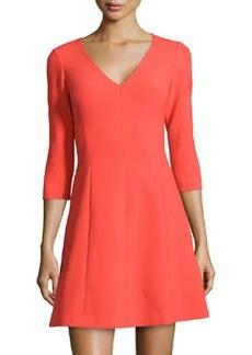 Trina Turk Three-Quarter-Sleeve A-Line Dress