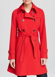 Trina Turk Trench - Juliette Twist Double Breasted Fit and Flare