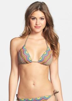 Trina Turk 'Wanderlust' Embroidered Triangle Slider Bikini Top