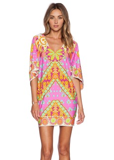 Trina Turk Woodblock Floral Cover Up