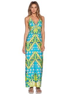 Trina Turk Woodblock Floral Maxi Dress
