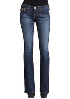 True Religion Becky Petite Boot-Cut Flap Pocket Jeans, Dusty Skies