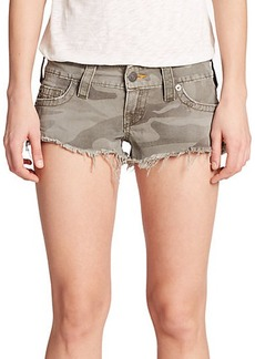 True Religion Bobby Cut-Off Camouflage Shorts