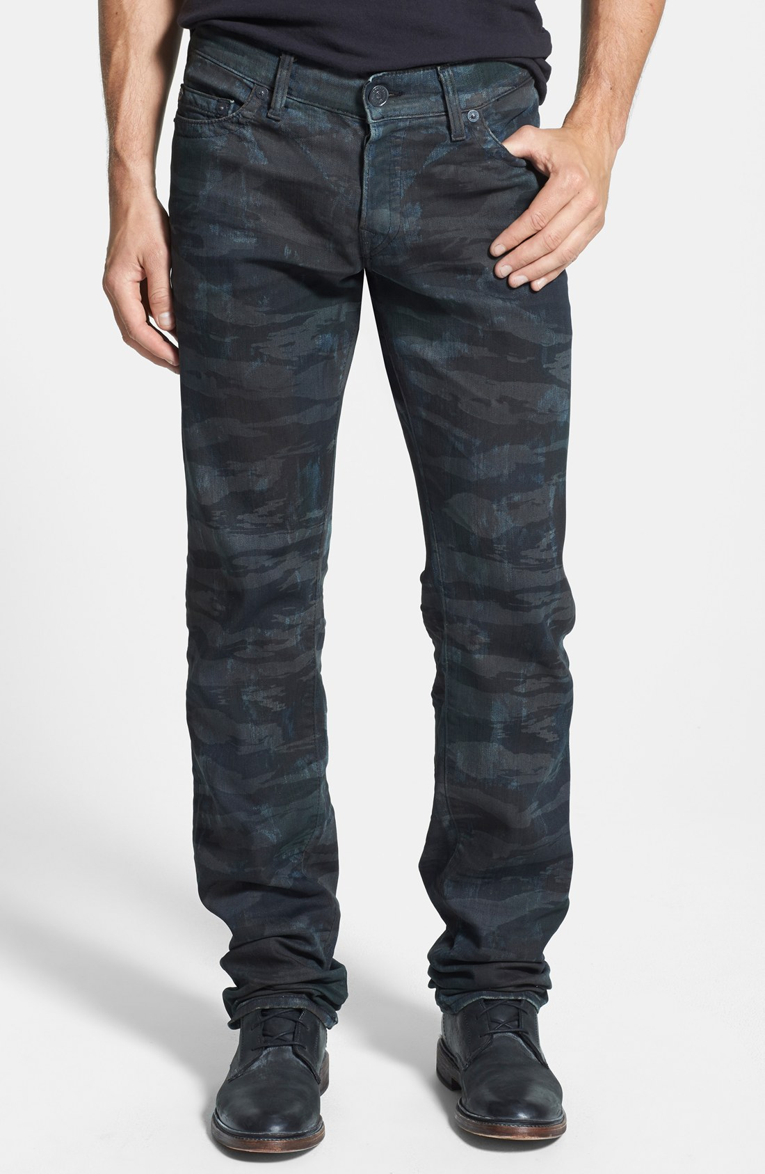 true religion brand jeans 39 geno 39 camo relaxed slim fit. Black Bedroom Furniture Sets. Home Design Ideas