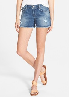 True Religion Brand Jeans 'Keira' Cutoff Denim Shorts (Destroyed Playa Lagoon)