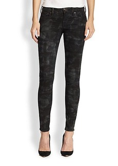 True Religion Casey Camouflage-Print Skinny Jeans