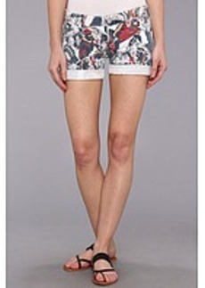 True Religion Cassie Low-Rise Rolled Short in White Monarch