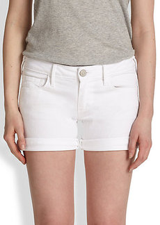 True Religion Cassie Rolled Denim Shorts