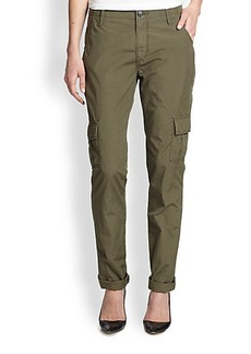 True Religion Celina Stretch Cotton Cargo Pants