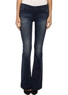 True Religion Charlize Mid Rise Flare in Inky Sea
