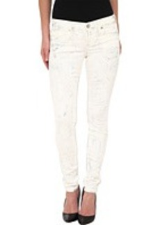 True Religion Chrissy Mid Rise Super Skinny Jeans in Silver Denim