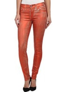 True Religion Halle Metallic Spray Jean in Orange
