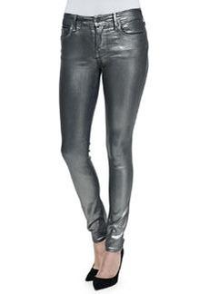 True Religion Halle Metallic Super Skinny Jeans, Aged Metal