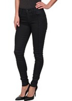 True Religion Halle Mid Rise Super Skinny in Coated Night