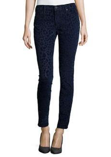 True Religion Halle Super Skinny Flock Jeans, Bqod Leopard