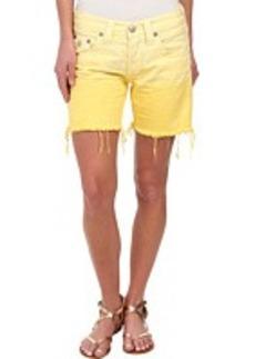 True Religion Jayde Ombre Shorts in Pineapple
