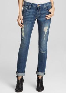 True Religion Jeans - Audrey Mid Rise Slim Boyfriend in Stoney Point