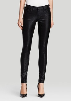 True Religion Jeans - Casey Python Low Rise Super Skinny in Black