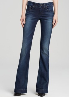 True Religion Jeans - Charlize Mid Rise Flare in Inky Sea