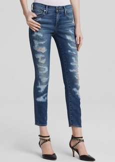 True Religion Jeans - Cora Mid Rise Straight Crop in Fremont Ave