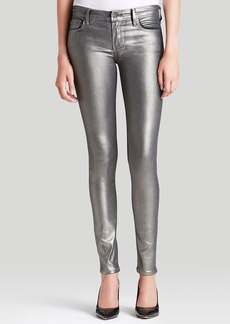 True Religion Jeans - Halle Mid Rise Super Skinny in Gunmetal