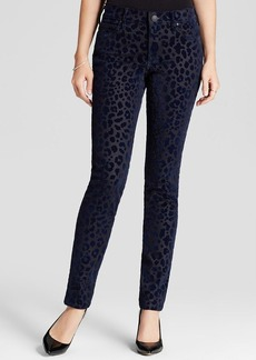True Religion Jeans - Halle Mid Rise Super Skinny in Leopard